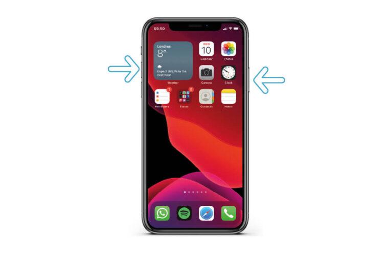 Cómo tomar una captura de pantalla en iPhone