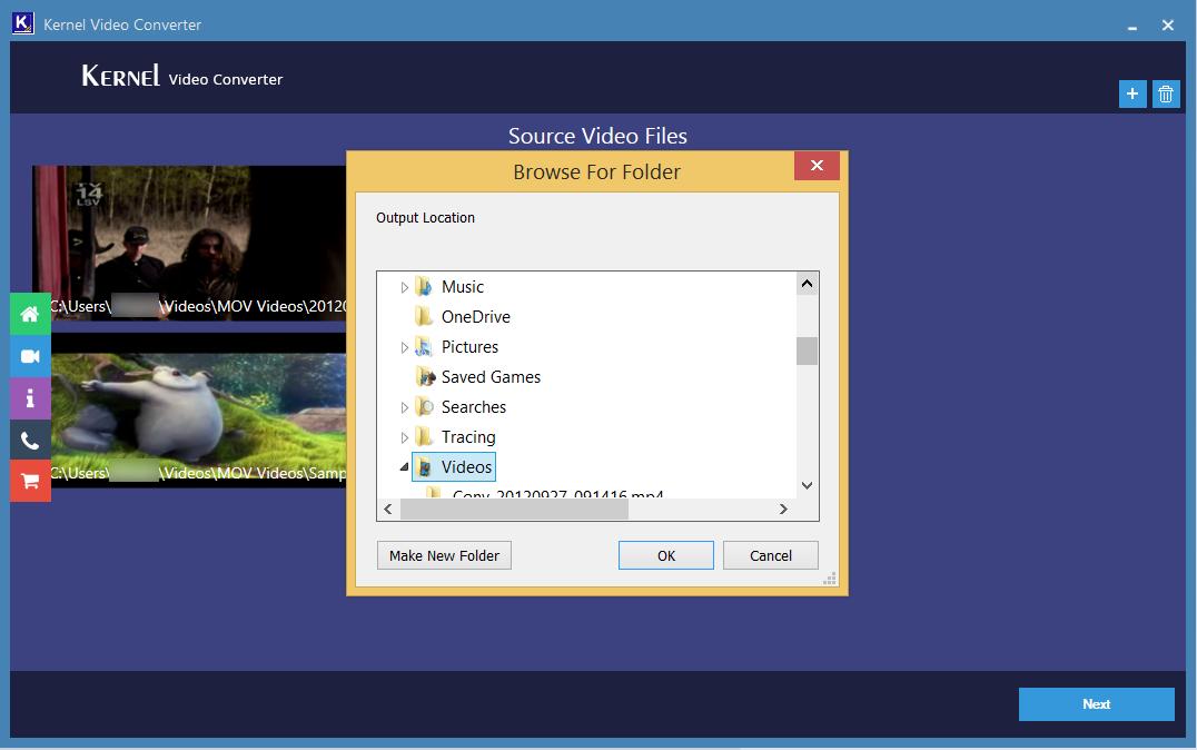 guardar los archivos de video