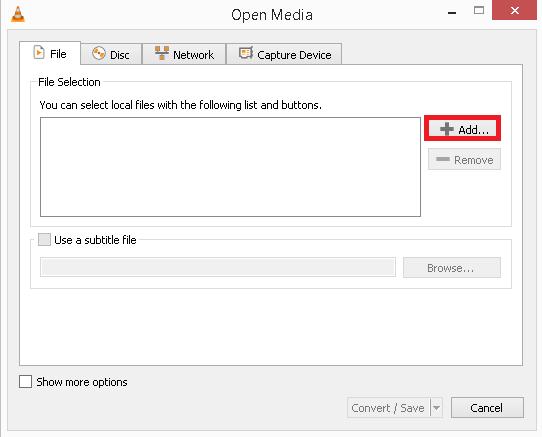 agregue los archivos MP4 deseados