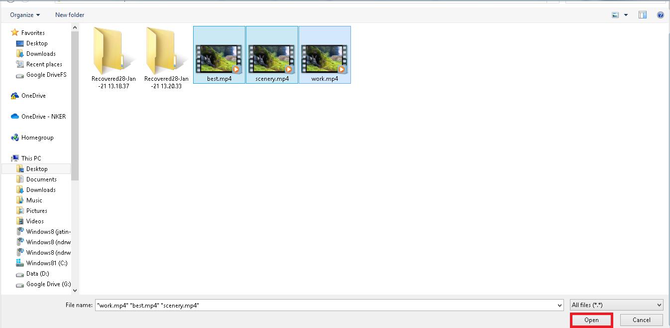 abrir y agregar archivo