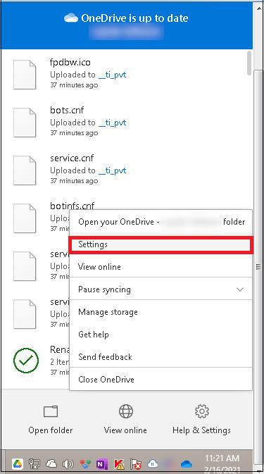 Aplicación OneDrive para empresas
