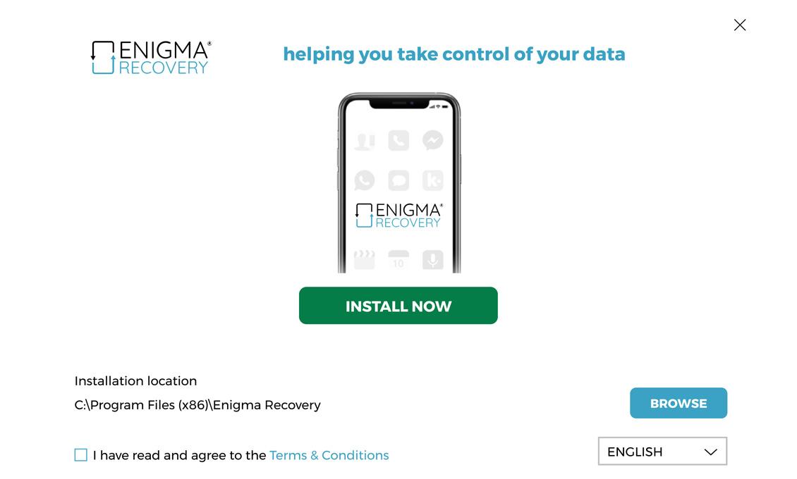 Descarga y abre Enigma Recovery