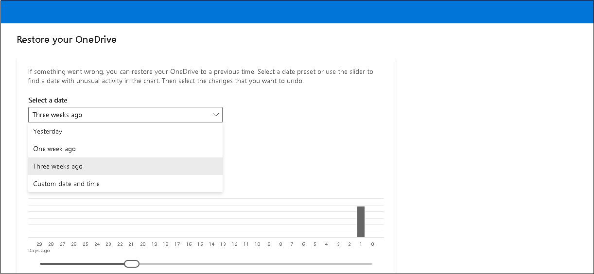 Seleccionar rango de fechas