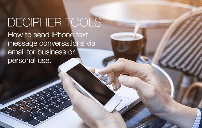 Envíe cualquier mensaje de texto de iPhone a alguien por correo electrónico.