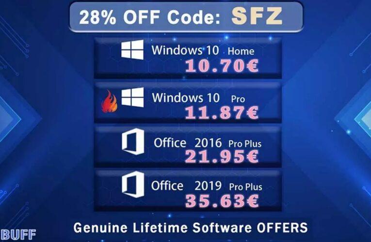 Descuento, Windows 10 12 €, licencia de por vida