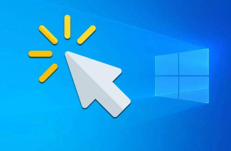 El puntero del mouse parpadea en Windows