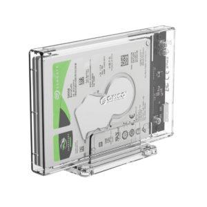 Caja de disco duro transparente