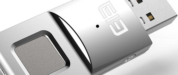 Unidad USB de 64 GB con lector de huellas dactilares