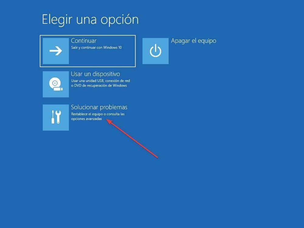 Opciones de recuperación para Windows 10-1