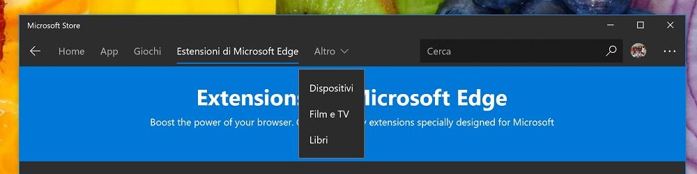 Cambio de tienda de Microsoft
